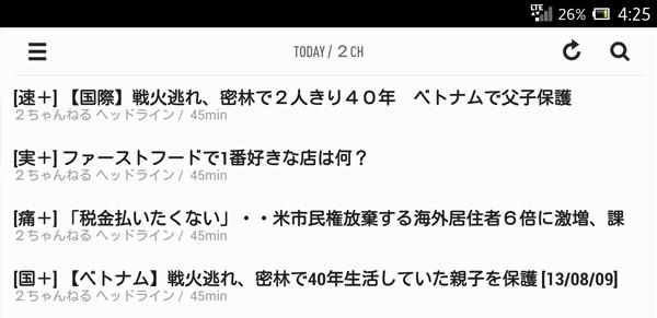 一覧表示Android